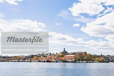 View of old town of Stockholm Stock Photo - Premium Royalty-Free, Image code: 6102-06374587