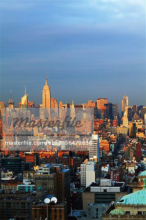 Manhattan skyline Stock Photo - Premium Royalty-Free, Image code: 6102-06470838