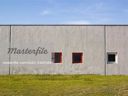 View of concrete building Stock Photo - Premium Royalty-Free, Image code: 6102-06471080