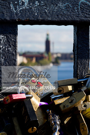 Close-up of padlocks Stock Photo - Premium Royalty-Free, Image code: 6102-06777410