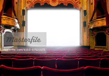 Cinema screen, Stockholm, Sweden Stock Photo - Premium Royalty-Free, Image code: 6102-07521573