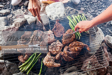 People having barbecue, Sweden Stock Photo - Premium Royalty-Free, Image code: 6102-07768968