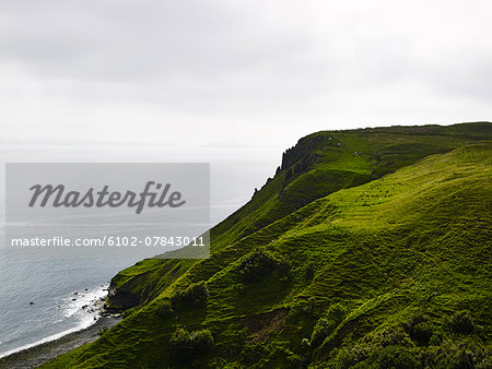 View of green cliffs Stock Photo - Premium Royalty-Free, Image code: 6102-07843011