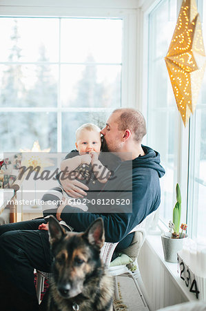 Father with baby boy Stock Photo - Premium Royalty-Free, Image code: 6102-08120520
