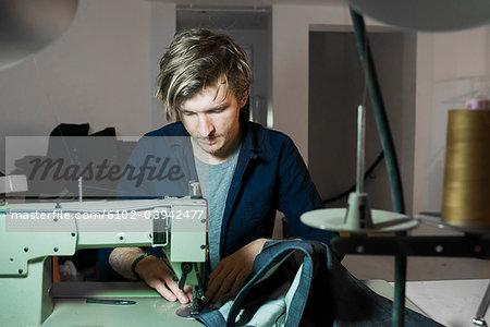 Tailor in workshop