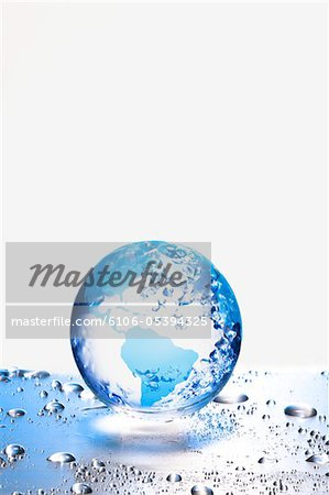 the earth  on metal board Stock Photo - Premium Royalty-Free, Image code: 6106-05394325