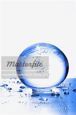 the globe on metal board Stock Photo - Premium Royalty-Free, Image code: 6106-05394335
