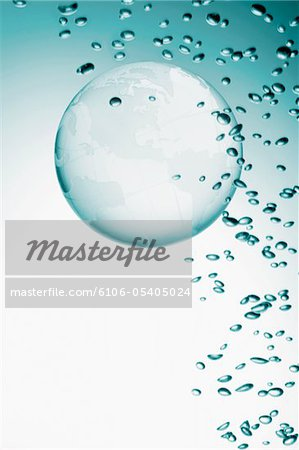 Bubble and globe Stock Photo - Premium Royalty-Free, Image code: 6106-05405024