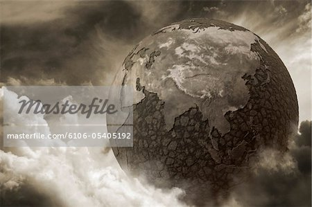 Dry earth due to pollution Stock Photo - Premium Royalty-Free, Image code: 6106-05405192