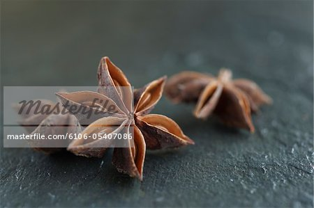Star Anise on slate Stock Photo - Premium Royalty-Free, Image code: 6106-05407086
