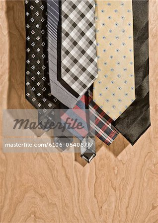 A weeks worth of men's ties Stock Photo - Premium Royalty-Free, Image code: 6106-05408777