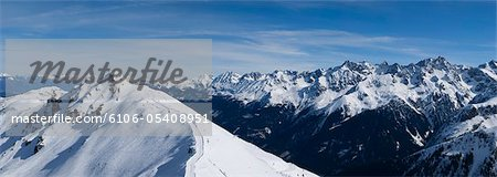 Mountain Panorama Stock Photo - Premium Royalty-Free, Image code: 6106-05408951