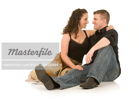 Romantic Young Couple Stock Photo - Premium Royalty-Free, Image code: 6106-05410444