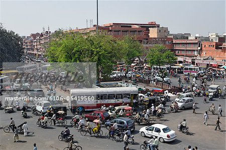 Traffic congestion Stock Photo - Premium Royalty-Free, Image code: 6106-05419560