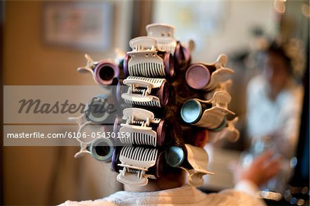 Beauty Salon Hair Stylist Highlights Hair Curls Stock Photo - Premium Royalty-Free, Image code: 6106-05430159
