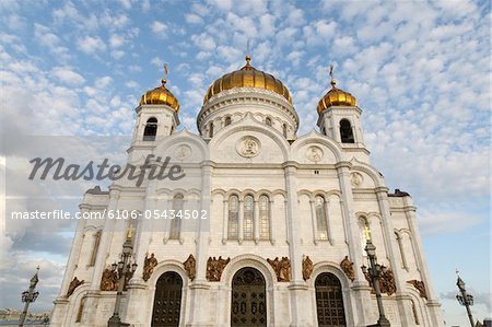 Cathedral of Christ the Saviour -low angle view Stock Photo - Premium Royalty-Free, Image code: 6106-05434502