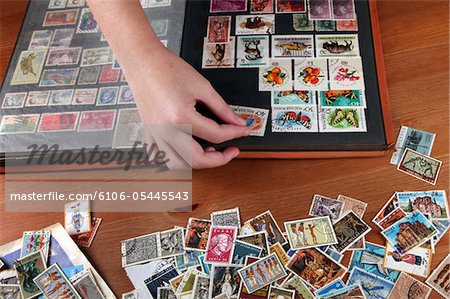 Collecting stamps Stock Photo - Premium Royalty-Free, Image code: 6106-05445543