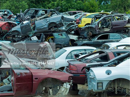 Junk yard Stock Photo - Premium Royalty-Free, Image code: 6106-05447667