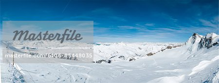 La Grave Mountain Panorama Stock Photo - Premium Royalty-Free, Image code: 6106-05448035