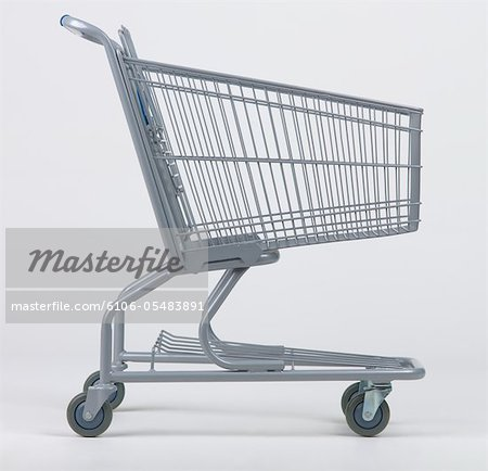 Empty grocery cart Stock Photo - Premium Royalty-Free, Image code: 6106-05483891