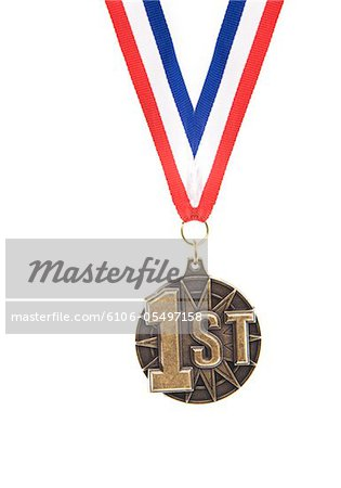 1st place medal Stock Photo - Premium Royalty-Free, Image code: 6106-05497158