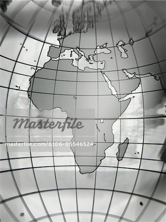 Globe with Africa prominent, close-up Stock Photo - Premium Royalty-Free, Image code: 6106-05546524