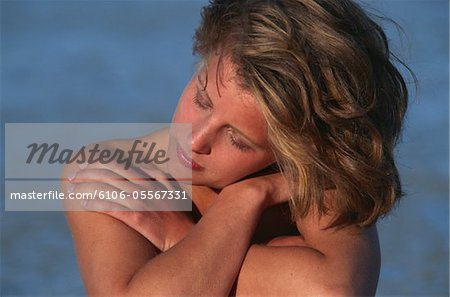 Nude woman, close up Stock Photo - Premium Royalty-Free, Image code: 6106-05567331