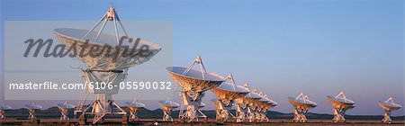 Very Large Array Radio Telescopes, New Mexico, USA Stock Photo - Premium Royalty-Free, Image code: 6106-05590032