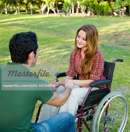 Disabled Couple Stock Photo - Premium Royalty-Free, Image code: 6106-05758692
