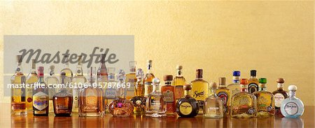 Assorted Tequilas Stock Photo - Premium Royalty-Free, Image code: 6106-05787669
