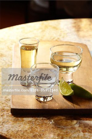 Glasses of Tequila Stock Photo - Premium Royalty-Free, Image code: 6106-05951540