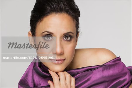 Beauty portrait of hispanic woman. Stock Photo - Premium Royalty-Free, Image code: 6106-05951961