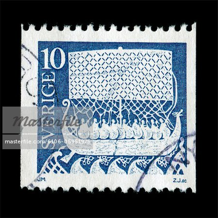 Vintage postage stamp from Sweden Stock Photo - Premium Royalty-Free, Image code: 6106-05951975
