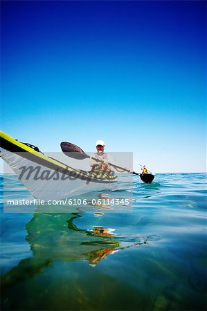 Kayaking on Georgian Bay Stock Photo - Premium Royalty-Free, Image code: 6106-06114345