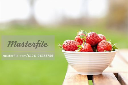A Bowl of Stawberries Stock Photo - Premium Royalty-Free, Image code: 6106-06165786