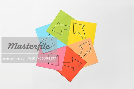 That the arrow drawn on paper Stock Photo - Premium Royalty-Free, Image code: 6106-06308197