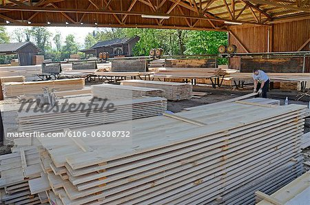 boards at saw mill Stock Photo - Premium Royalty-Free, Image code: 6106-06308732
