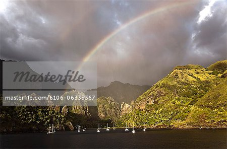hanavave bay in fatu hiva island Stock Photo - Premium Royalty-Free, Image code: 6106-06335367