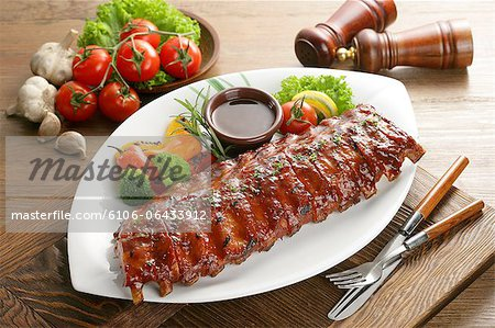 Barbecued ribs, Deunggalbi Stock Photo - Premium Royalty-Free, Image code: 6106-06433912