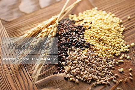 Assorted grains Stock Photo - Premium Royalty-Free, Image code: 6106-06434051