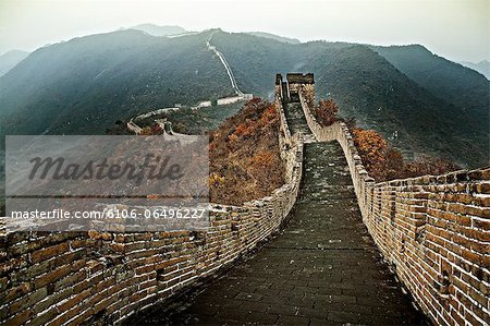 Chinese Great Wall, section at Mutianyu Stock Photo - Premium Royalty-Free, Image code: 6106-06496227