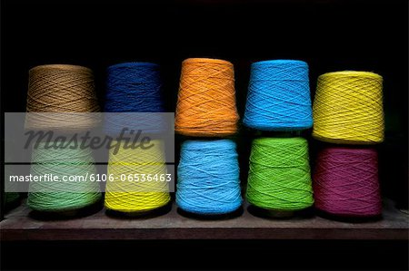 Spools Of Dyed Aplaca Yarn In El Alto, Bolivia Stock Photo - Premium Royalty-Free, Image code: 6106-06536463