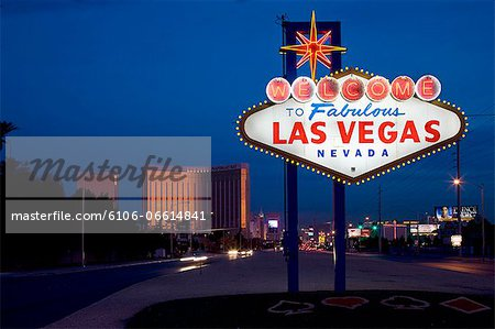 Welcome to Las Vegas sign Stock Photo - Premium Royalty-Free, Image code: 6106-06614841