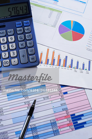 Financial calculations Stock Photo - Premium Royalty-Free, Image code: 6106-06831246