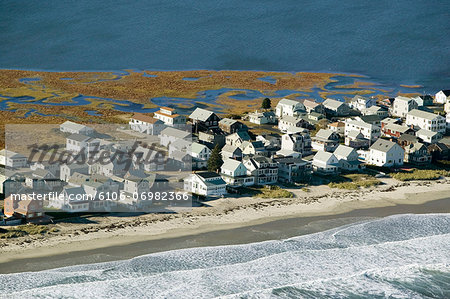 USA, Maine, York Beach, summer houses, aerial view Stock Photo - Premium Royalty-Free, Image code: 6106-06982366
