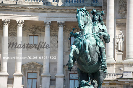 Austria, Vienna, Statue of Prince Eugen of Savoy outside Hofburg Palace Stock Photo - Premium Royalty-Free, Image code: 6106-06984303