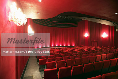 Empty Illuminated Theatre Stock Photo - Premium Royalty-Free, Image code: 6106-07008385