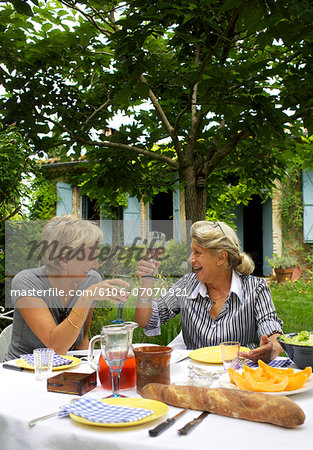 Repas champêtre de seniors Stock Photo - Premium Royalty-Free, Image code: 6106-07070921