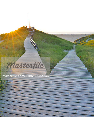Forked Wooden Walkway Stock Photo - Premium Royalty-Free, Image code: 6106-07454733