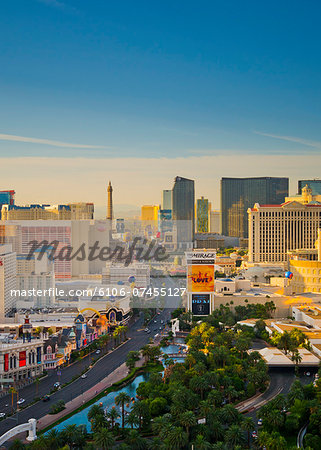 USA, Nevada, Las Vegas, The Strip Stock Photo - Premium Royalty-Free, Image code: 6106-07455127